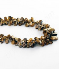 Tigers Eye Drop Shape Necklace